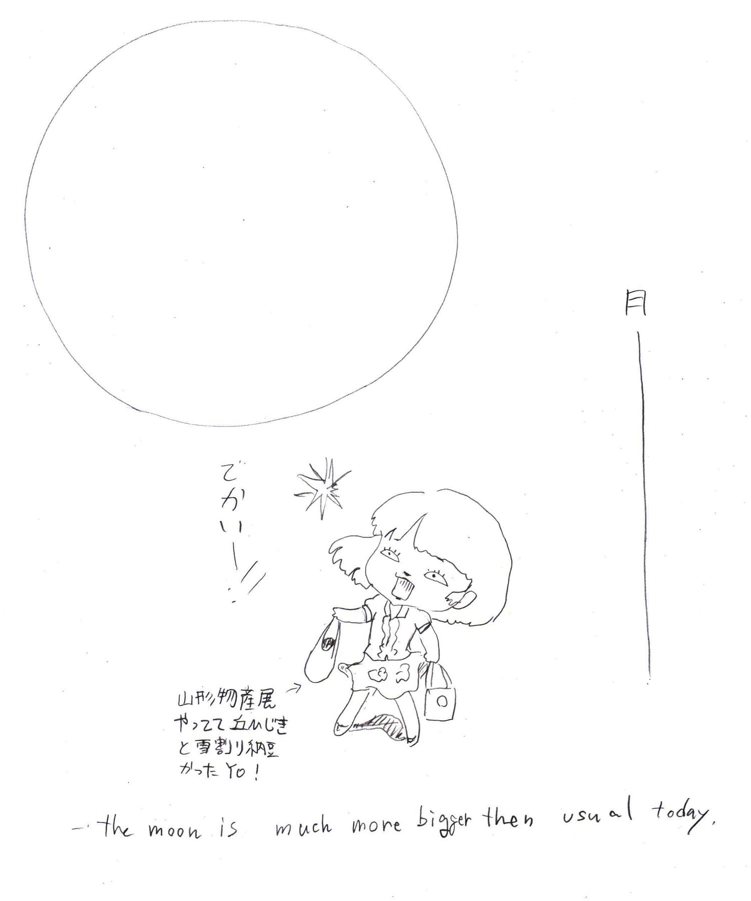 月でかい!
